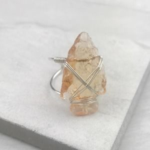 NEW Free People Coyote Crystal Arrowhead Ring